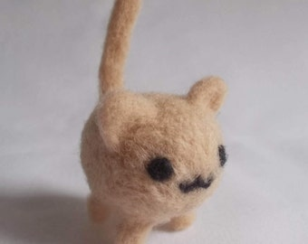 Custom needle felted cat