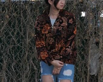Large Floral Bomber Jacket