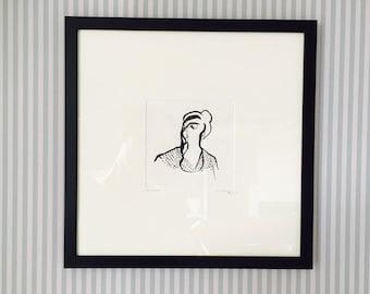 Expectation - Framed Original Illustration - Natalie Blofield
