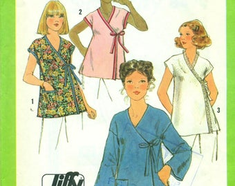 Simplicity 8490 JIFFY Front Wrap Top VINTAGE 70s ©1978