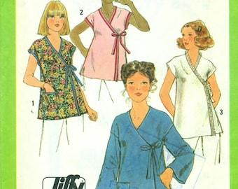 Simplicity 8490 JIFFY Front Wrap Top VINTAGE 1970s ©1978