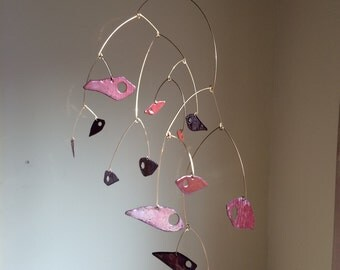 Mobile of Red and Pink Fish