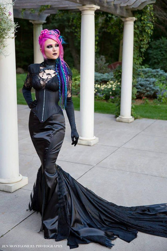 Fetish themed wedding gowns