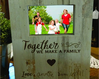 family picture frame, signature gift ,handwriting gift, mothers day gift, fathers day gift, valentine's day gift, christmas gift
