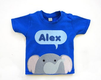 Organic Baby Elephant T-Shirt : Personalized Elephant T-Shirt , Safari Baby Shower, Jungle Baby Shower
