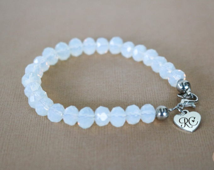 RC Signature Bracelet in Opalescent White.