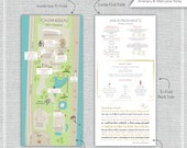 Listing for Ami - Itinerary Changes after finished - Wedding Map Invitation--Miami, Florida. Fontainebleau Miami Beach.