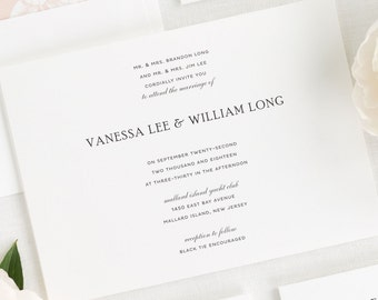 Simple Elegance Wedding Invitations - Sample