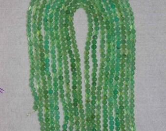 Chrysoprase, Chrysoprase Bead, Grade AA+, Smooth Bead, Green Bead, SemiPrecious, Natural Stone, Full 16 inch Strand, 4 mm, AdrianasBeads