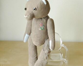 OOAK Grey Brolly Artist Jointed Bear