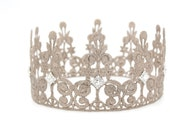 ELLE Lace Crown with rhinestone jewels ||  FULL size lace crown || photography prop|| Toddler-Adult ||