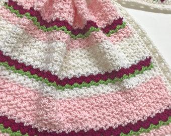 Crochet Baby Blanket Pattern - Baby Blanket Pattern - EASY CROCHET pattern - Del Mar Flowers - Crochet Patterns by Deborah O'Leary