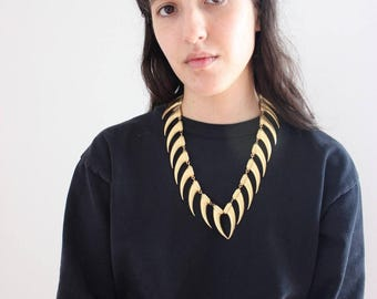 Vintage Gold Fang Claw Jamie Simpson Avant Garde Necklace