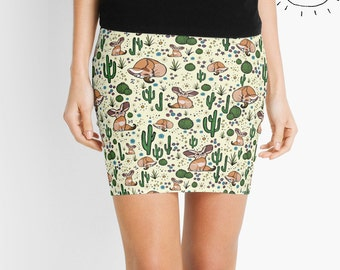 Fennec Fox Skirt, Fox Skirt for Women, Desert Skirt, Cactus Skirt, Fox Skirt, Cactus Skirt for Women, Desert Skirt for Women