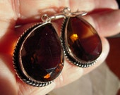 A Elegant Double Faceted Smokey Topaz From Brazil...Set in 925 Sterling  Silver Palladium...ON SALE