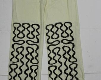 Bow wow wow Squiggle Print Cotton Pants -Punk Trousers- Screenprint  Vivienne Westwood 34 waist