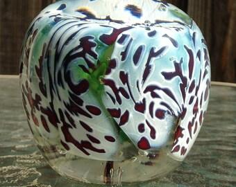 Alpine Spring - handmade art glass paperweight