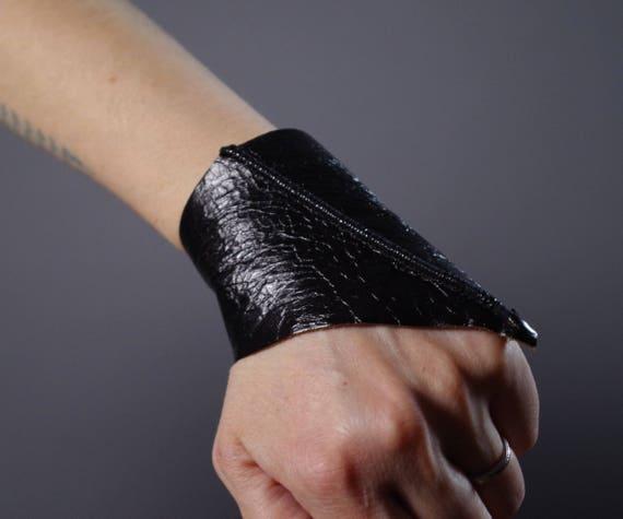 Black Leather Cuff Bracelet - Leather Cuff Bracelet - Leather Cuff - Twisted Leather Cuff Bracelet - Leather Black Cuff