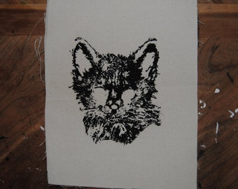 Feral Cat Back Patch (White)
