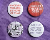 BroadwayCon 2017 Button or Magnet Pack - 4 Pinback Buttons or Magnets
