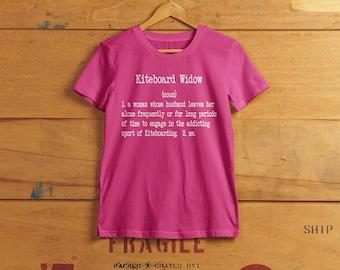 Kiteboard / Kitesurf Widow T-shirt - Ladies custom t-shirt
