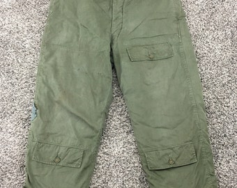 Vintage 1940's WW2 USAAF Army Air Force A-10 Alpaca Lined Trousers Pants