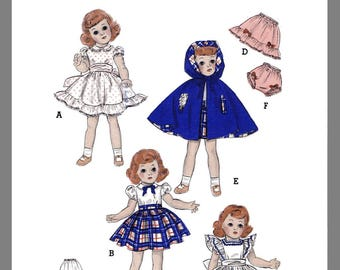 Vintage Butterick Toni Doll Clothes fabric material Sewing Pattern # 5969 Copy