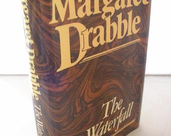 Vintage book The Waterfall Margaret Drabble 1970s hardback with original dustjacket fiction romance love affair novel 313