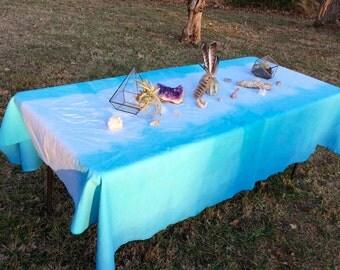 Sky Blue Cotton Dip Dye Tablecloth 60 x 94