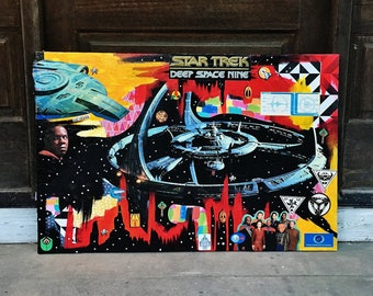 24x36 Inch Star Trek DS9 Mixed Media Collage