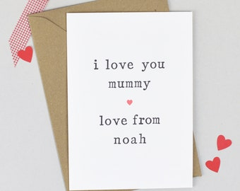 Mother's Day Card, Card for Mum, Card for Mummy, Card for Mum, Mummy Mothers Day Card, Mum Mother's Day Card, Love You Mum, Mummy Card,