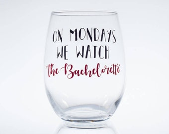 On Mondays We Watch the Bachelorette -- Bachelor -- The Bachelorette -- ABC Bachelorette -- Rose Ceremony -- Wine Glass