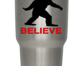 I Believe Sasquatch Decal, Bigfoot Decal, Yeti Sticker, Sasquatch, Bigfoot, Yeti Decal