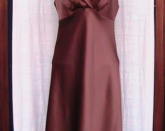 Vintage Brown Satin Slip size 34