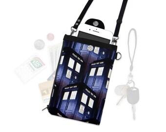 BBC Doctor Who Tardas Dalek Crossbody Purse Phone Wallet Travel Wallet Wristlet iPhone Case Wallet Samsung Cellphone Minimal Crossbody Bag