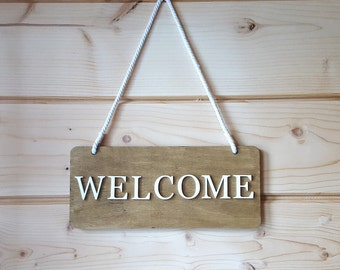 welcome sign, welcome sign for front door, Wood Welcome Sign, Sign Decor, Rustic Wooden Welcome Sign, Welcome Sign for Front Porch