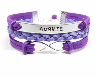 Girls Bracelet | Personalized Name Bracelet | Childrens Bracelet | Kids Jewelry | Girl's Jewelry | Flower Girl Gift | Daughter Bracelet