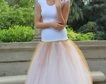 Gold Belle Slip - Ball Gown Petticoat - Crinoline Petticoat - Bridal Slip - Petticoat Slip - A-Line Slip - Petticoat with Hoop - Long Slip