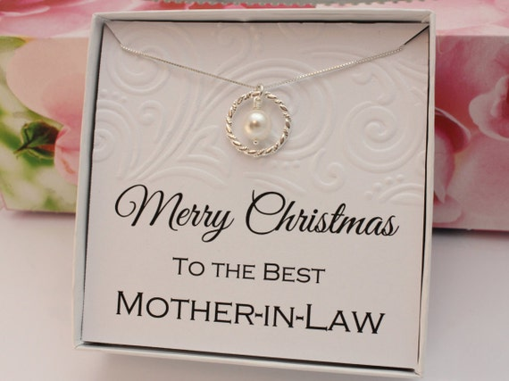 Good Gifts For Mothers In Law: Gift For Mother In Law Necklace Sterling Silver Eternity