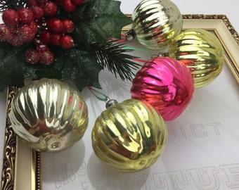 Vintage Christmas Ornaments set 5 Vintage Christmas Decorations, Soviet Glass Ornaments, Christmas decor, Christmas Tree Decorations