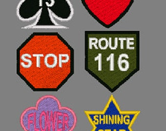 """Patches 3"""" Shape Custom Patches"""
