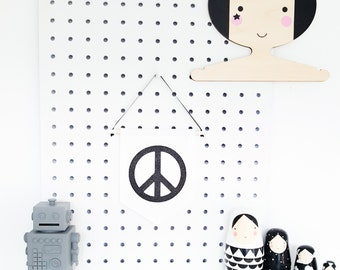 Peace Wall banner, Mini banner, banner - colours are customisable!