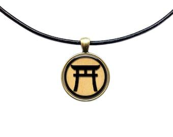 Shinto pendant Antique jewelry Japanese necklace