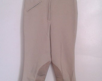 Vintage Ariat Cream Stretch Equestrian Riding Pants Suede Patches Sz 28 R WASP