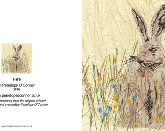 Hare in a Summer Meadow Greeting Card