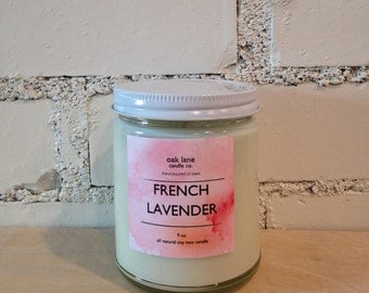 ALL VARIETIES Soy Candle, Scented Candle, 9 oz Candle