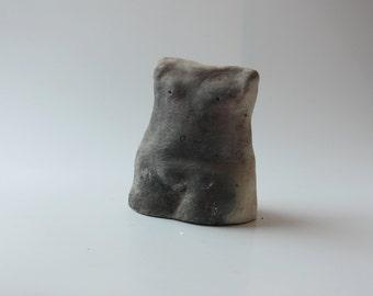 ceramic sculpture, Unique Ceramic Figurine, Torso Original Sculpture, housewarming gift, Clay Sculpture, Torso, Ceramic Figurine, Handmade,