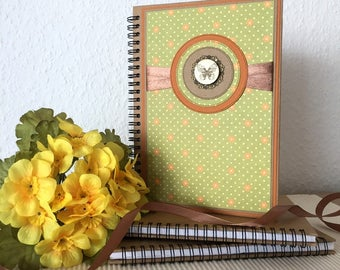 A5 Rustic Notebook - Diary - Sketch book - Personal Journal - Vintage Travel Pocket Notebook - Gift For Friend Mother Girlfriend Sister