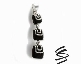 Black Onyx Sterling Silver Necklace Onyx Pendant Silver Onyx Jewelry Black Onyx Silver Jewelry Black Gemstone Black Onyx Pendant Black Stone