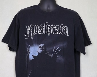 Nosferatu horror movie t-shirt, 1979, vintage vampire tee shirt, Dracula, gothic, Max Schreck, monster, goth, Werner Herzog
